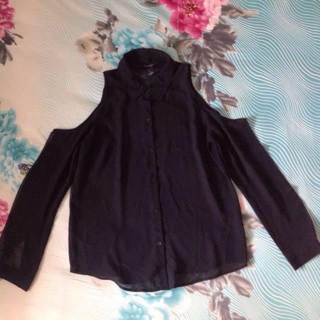 SUPER SALE! Black Shirt By Forever21