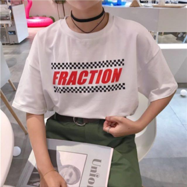 韓系寬版英文字樣印花短袖T恤