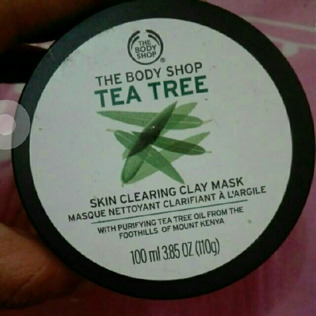 Tea tree mask the body shop skin clearing clay mask