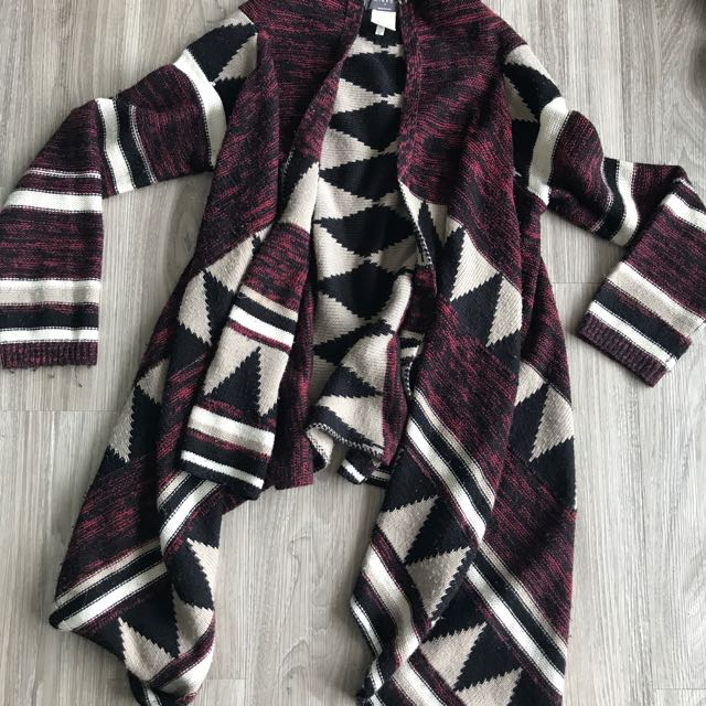 Thick winter knit cardigan
