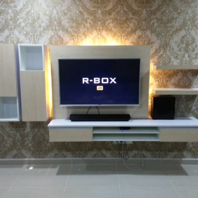 Tv Kabinet Murah Moden Felicia Rm999 Home Furniture Others On Carou