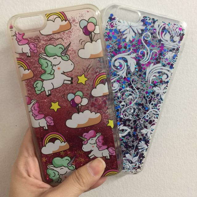 Unicorn Case and Glitter Case for Iphone 6 Plus