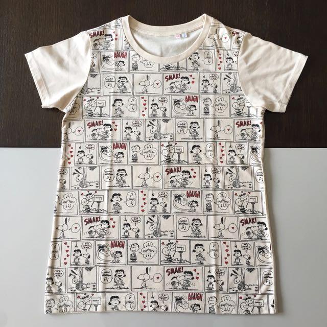 UNIQLO Snoopy & Charlie Brown T-Shirt (Ori)