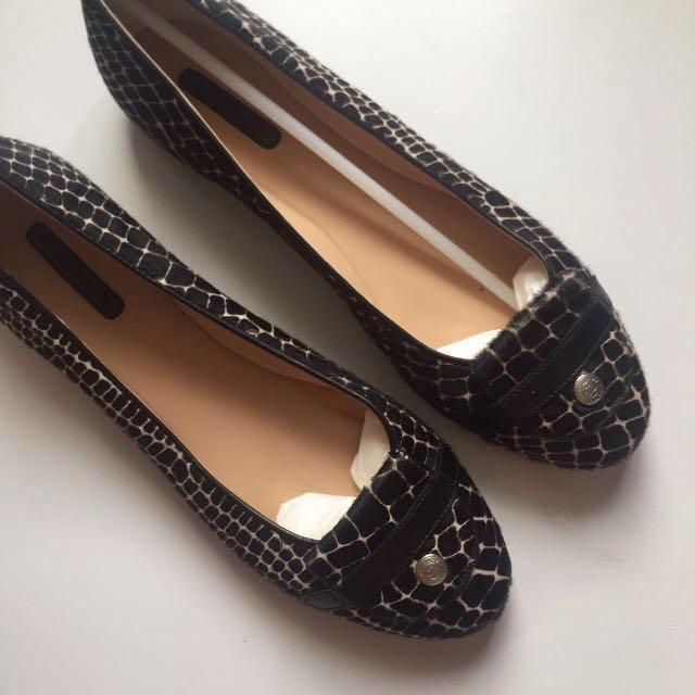 Velvet Fur Longchamp Flats