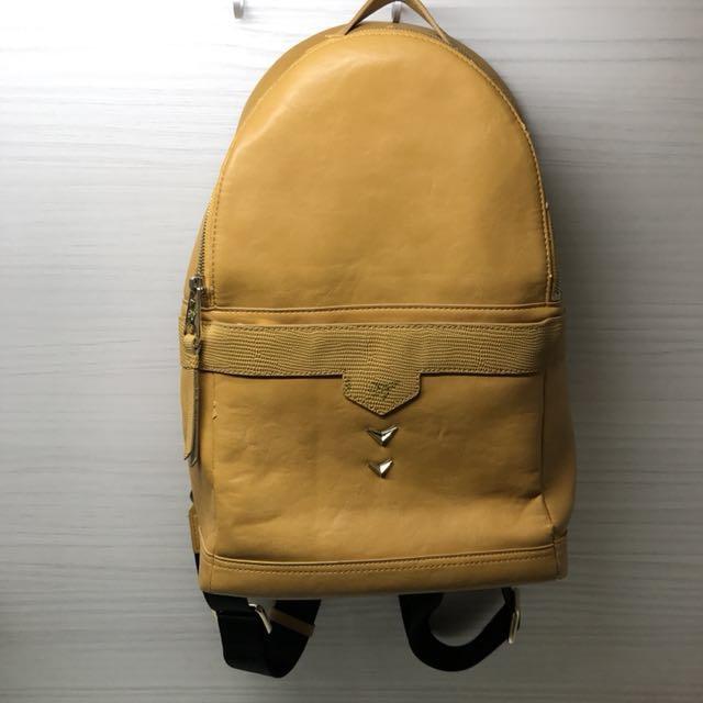 韓國Viamonoh 飛機包 黃色硬挺後背包