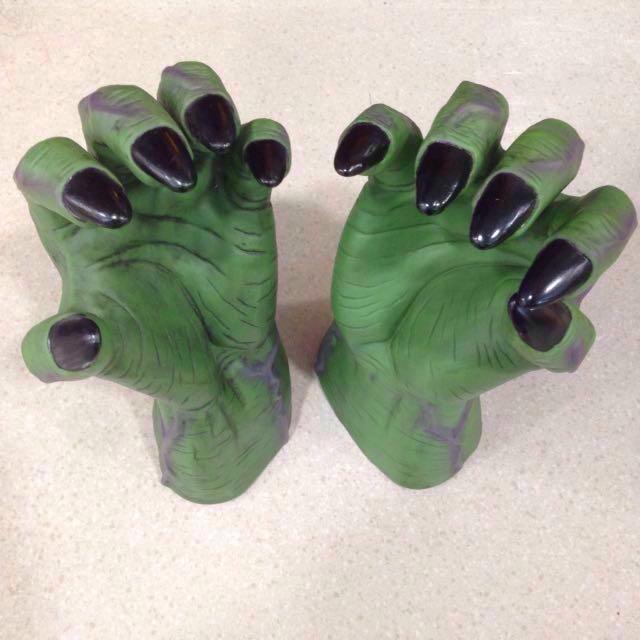photo photo photo photo photo & Vintage Green Sea Monster Frankenstein Hulk RatFink hands Props ...