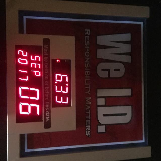 we i.d. neon clock