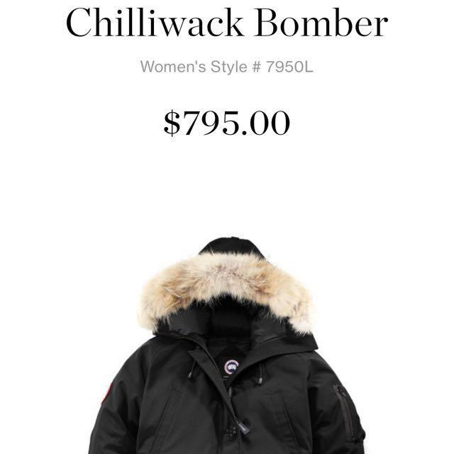 Women's Canada Goose Chilliwack Bomber