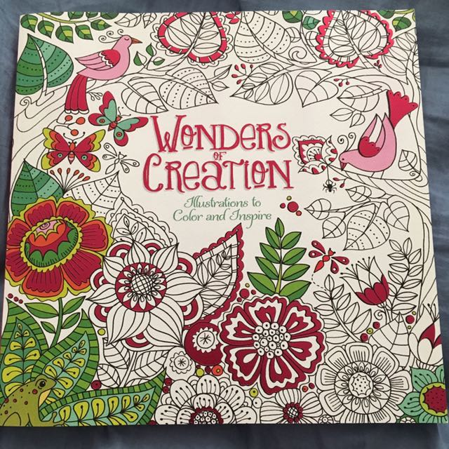 Wonders of creation adult colouring book