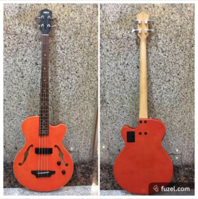 yamaha bex4 hollowbody acoustic electric bass guitar w piezo pickup music media music. Black Bedroom Furniture Sets. Home Design Ideas