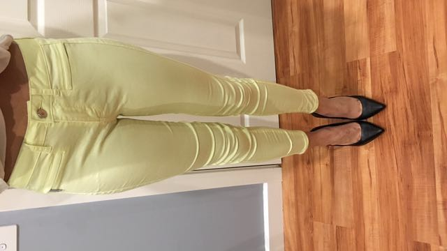 Zara Yellow Jeans