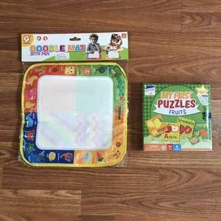 Doodle mat and Fruit puzzle