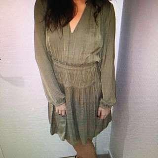 Witchery - Long Sleeve Olive Dress