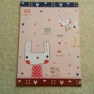 Plasic Stitched Korean Bunny Folder