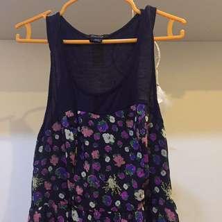 Pretty floral purple dress