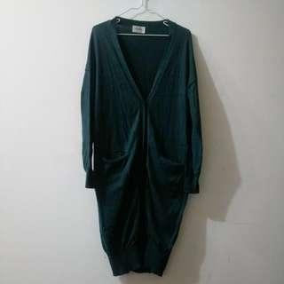 🚚 薄針織罩衫 (綠)