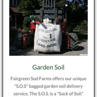 1/2 cubic yard of garden soil