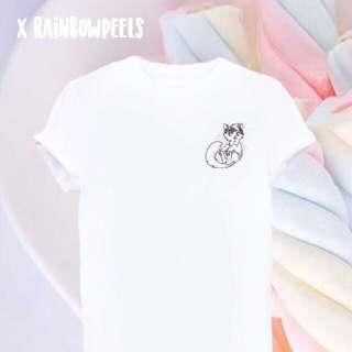 Instock | Rosy Garden Cat Kitty Tumblr T-shirt