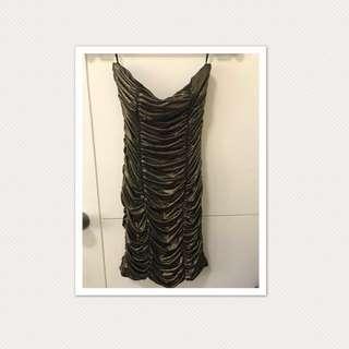 Forever 21 Form Fitting Gold Tube Dress