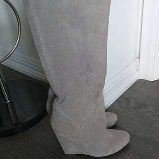 Aldo suede wedge boots size 36 6