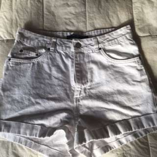 Factorie White Denimn Shorts