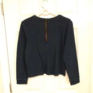 Jcrew zip back sweater size small