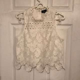 Top shop lace shirt size small