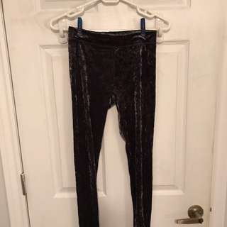 Velvet leggings size small