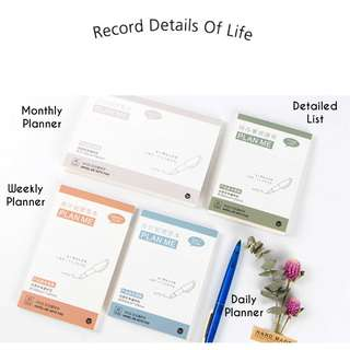Minimalist Planner Sticky Note Pad