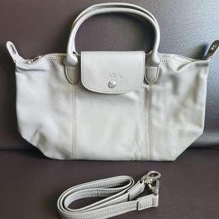 Longchamp Cuir Leather SSH Gray