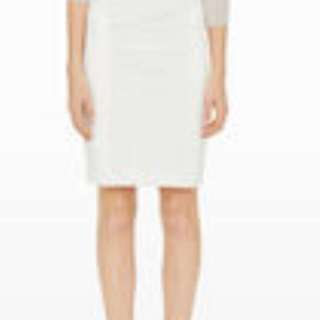 Club Monaco white pencil skirt