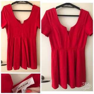 Maxim red dress size large