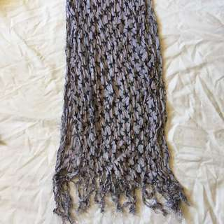 long grey star scarf