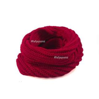 red wine snood scarf