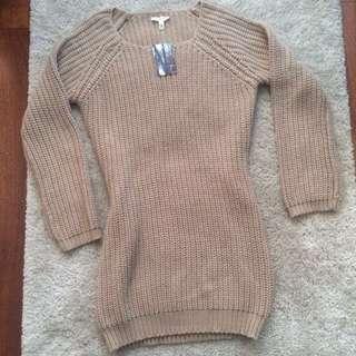 UO Back Slit Sweater Dress