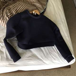 Cropped sweater (navy size xs)