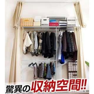 超大型更衣室衣櫥兩用架 一件免運+鑑賞期保障