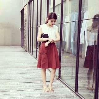 🚚 Sivir Trend 磚紅色圓裙