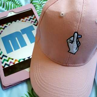 Pink Pastel Korean Style Baseball Cap Hat
