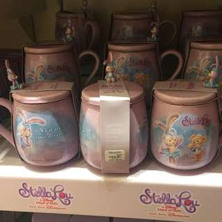 Disney 代購 Stella lou 陶瓷杯連匙