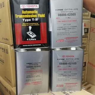 100% Original Toyota gear oil ATF / CVT /WS/TYPE 4