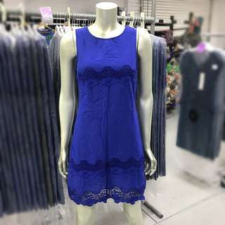 Blue cotton dress