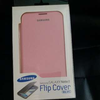 Samsung Note 2 粉紅色 Flip Cover 手機殼