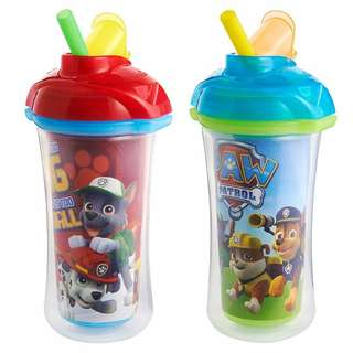 Munchkin Paw Patrol Click Lock Insulated Straw Cup, (Pack of 2)