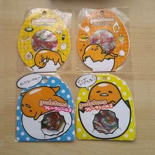60 piece Gudetama Sticker Pack
