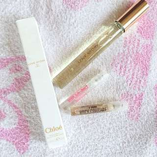 Chloé and Juicy Couture perfume set