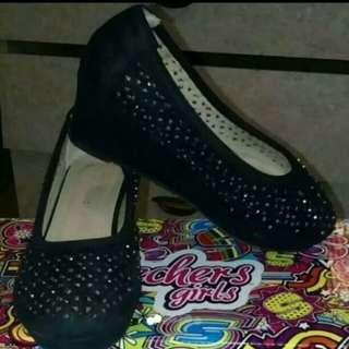 Dressy Shoes Black w/Rhinestones