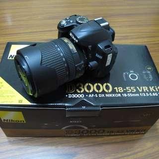 【出售】Nikon D3000 數位單眼相機 國祥公司貨 9成新