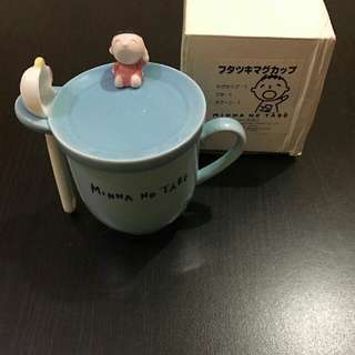 Sanrio 1997年 大口仔陶瓷杯連瓷羮 Minna No Tabo