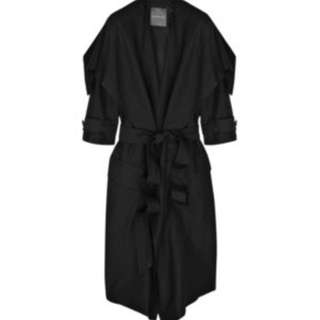Camilla And Marc Linen/silk Trench Coat Jacket Size 10